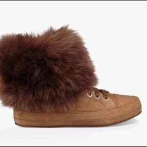 Ugg Antoine fur sneakers